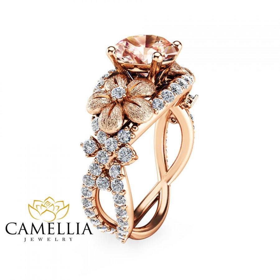 14k gold morganite engagement ring gold