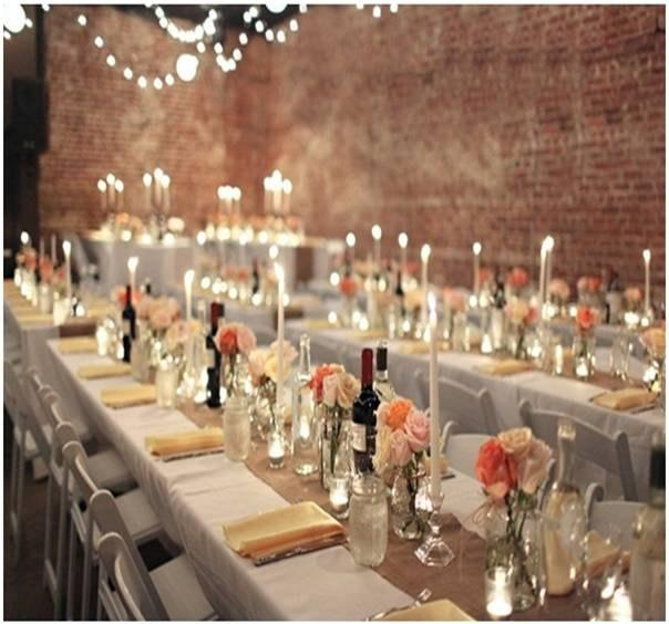 "Mariage - 102"" x 12"" Inch Burlap Table Runners ( Fit 6ft Long Tables)"