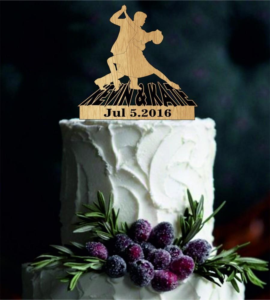 Mariage - Rustic Wedding cake topper - Custom Wedding Cake Topper, Personalized wedding cake topper, bride and groom cake topper, funny cake topper