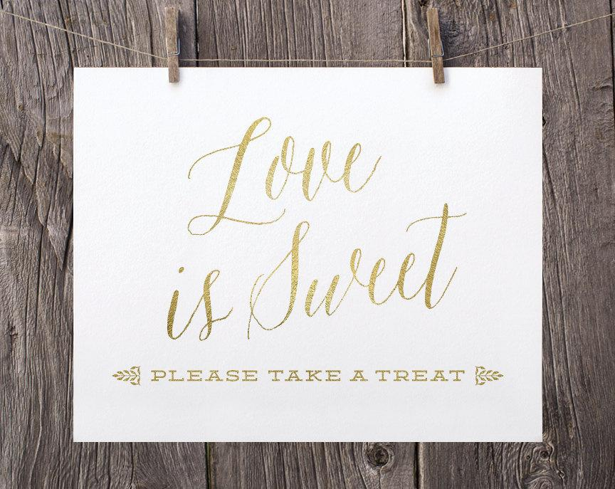 Fine 5X7 Printable Wedding Signs Love Is Sweet Sign Dessert Interior Design Ideas Tzicisoteloinfo
