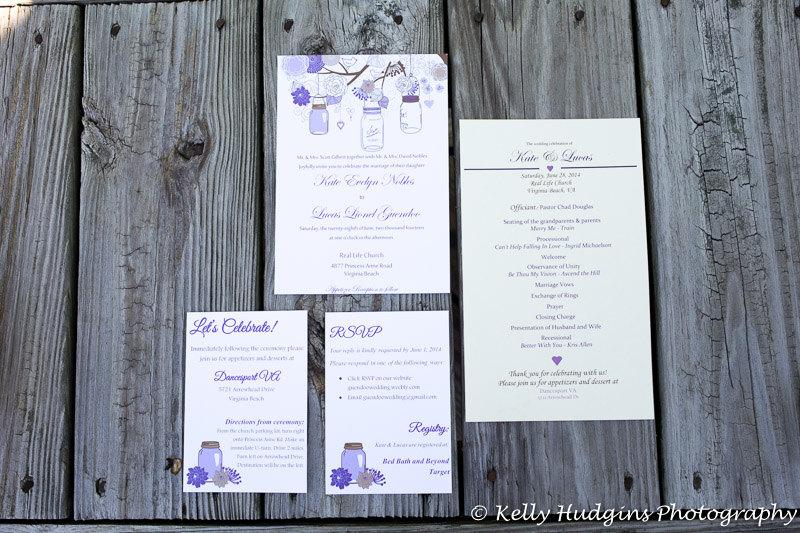 Wedding Invitations With Response Cards And Envelopes: Rustic Wedding Invitation, RSVP Card With Envelopes