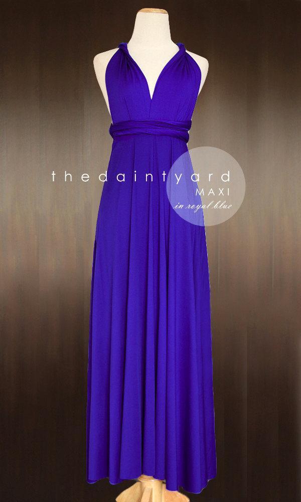 MAXI Royal Blue Bridesmaid Dress Convertible Dress Infinity Dress ...