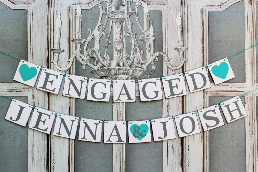 engagement banners rustic wedding signs engaged names signs rustic