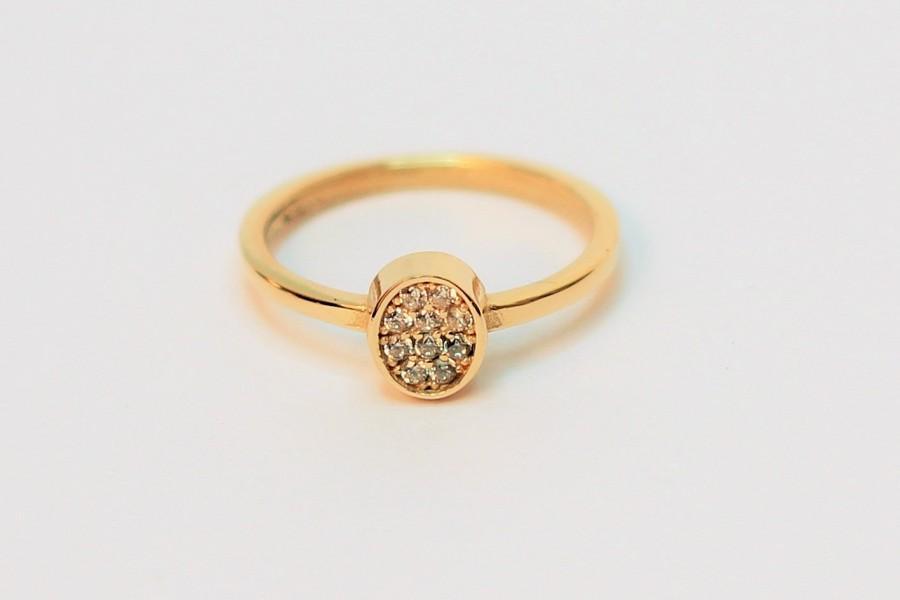 Mariage - Engagement Gold Ring, Wedding Ring - Wedding Band - Handmade Ring - Stacking Ring