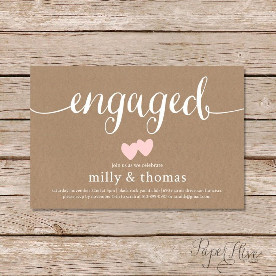 Mariage - Engagement party invitation / rustic couples shower invitation / rustic engagement shower invite