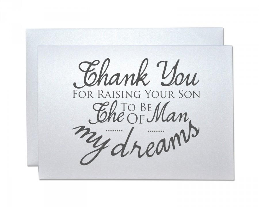 Mariage - Wedding thank you card from bride groom to new inlaws future parents thank you for raising your son daughter to be the man woman my dreams
