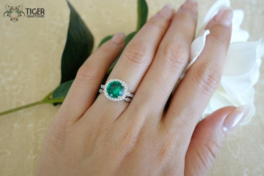 band leaves emerald man ring diamonds engagement made il listing