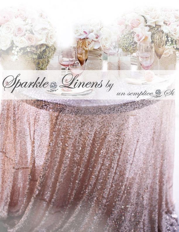 Hochzeit - Sequin Tablecloth, Sequin Runner, Sequin Overlay