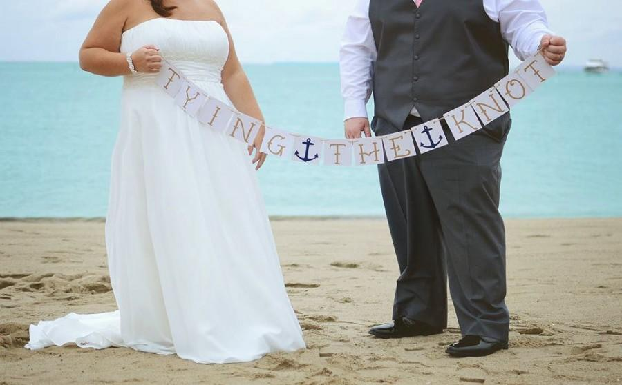 Wedding - Bachelorette Party Wedding Decoration Banner Tying the Knot