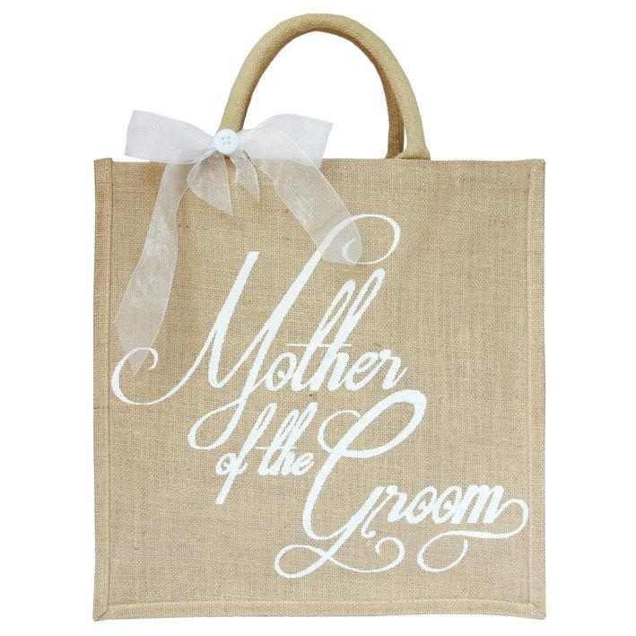 Mariage - Wedding Gift bags, Set of 6 Large Hand Painted Jute Bags, 40 x 40cm Mother of the Groom Bridesmaids Maid of Honour Wedding bags
