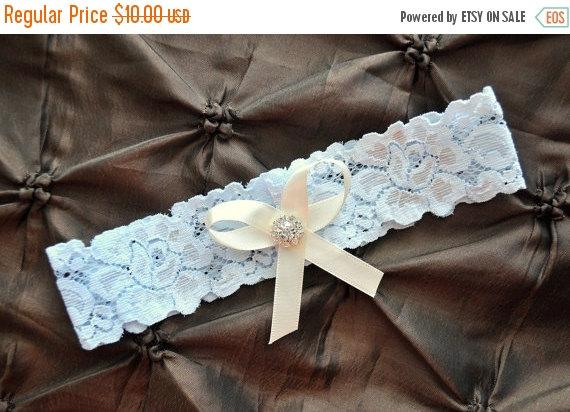 Hochzeit - SALE Wedding Garter, Bridal Garter - Blue Lace Garter, Toss Garter, Crystal Embellishment Blue, Blue Wedding Garter, Something Blue Garter