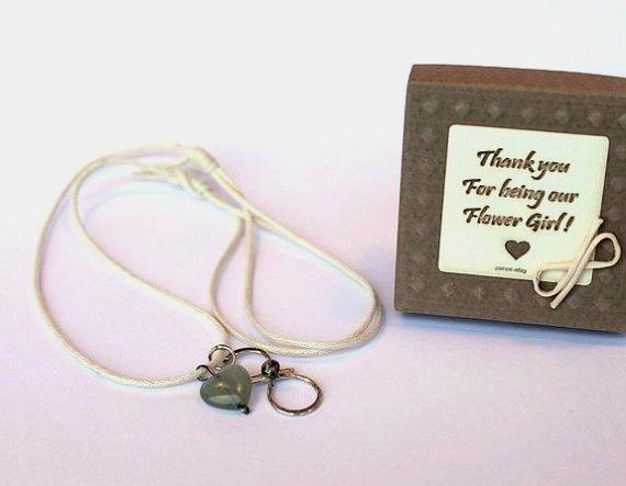 Свадьба - Flower girl gift,flower girl necklace,infinity necklace,rustic wedding,thank you flower girl,flower girl jewelry,wedding party gift