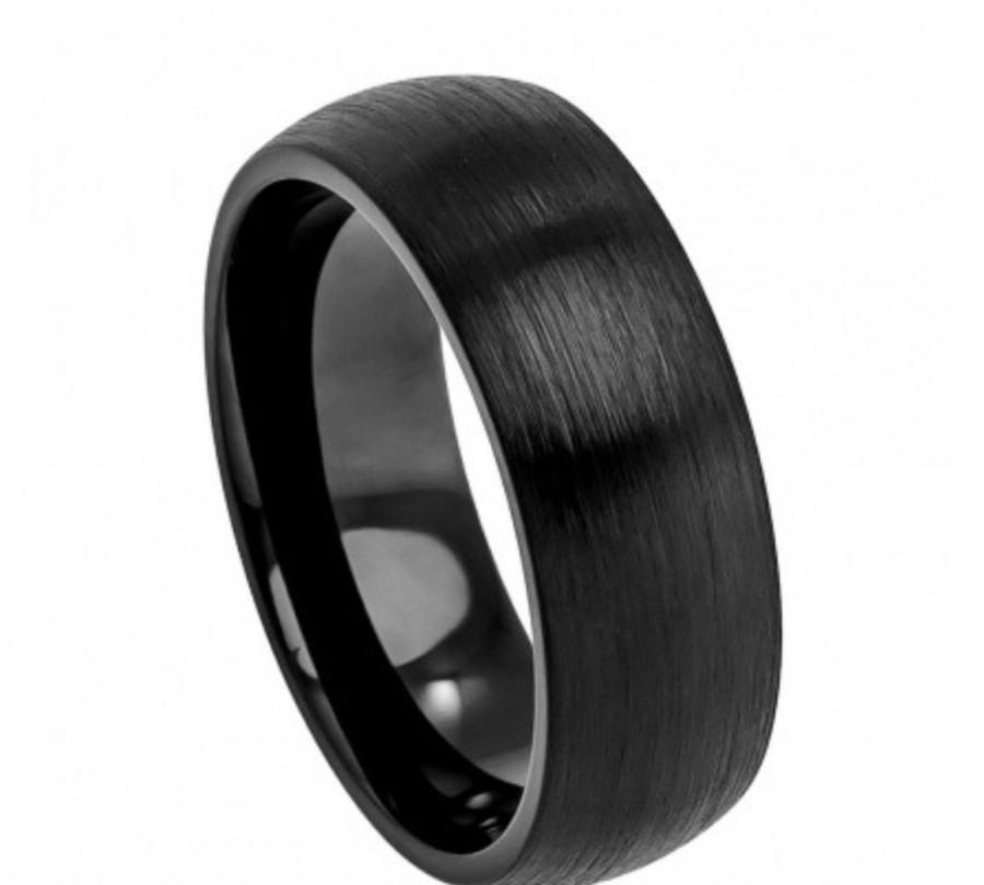 Tungsten Wedding Rings Bands Men S Black Comfort Fit Hypoallergenic Jewelry