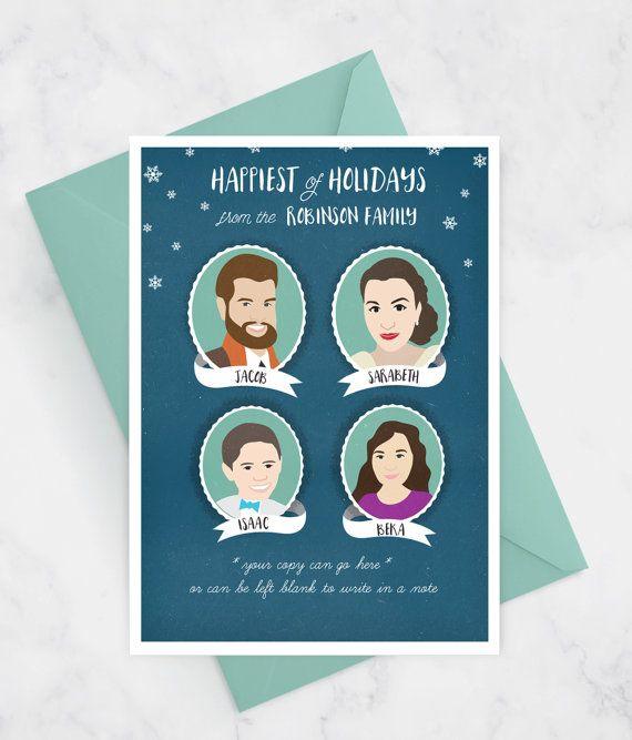picture relating to Printable Hanukkah Card titled Family members Getaway Card, Xmas Card, Hanukkah Playing cards, Pleased