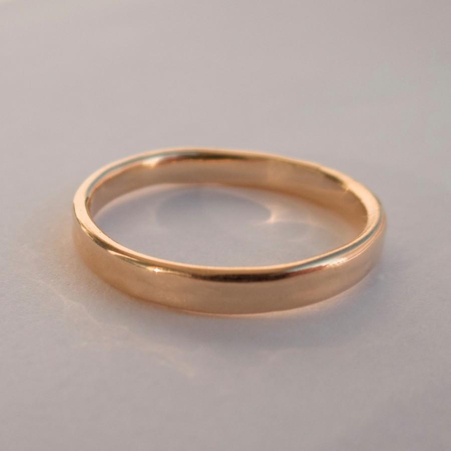 simple gold wedding band 14k gold ring unisex