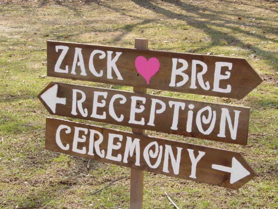 Rustic Wedding Signs 3 LARGE Painted Wood 1 Tall Stake Beach Decorations Country Mr Mrs Signage Reception Baby Bridal Shower Ceremony