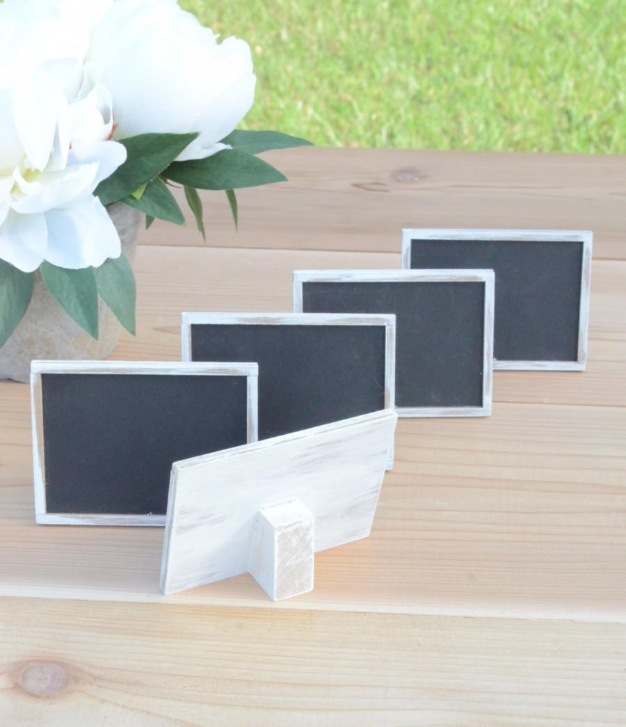 Hochzeit - Rustic chalkboard signs, table numbers, wedding signs, rustic weddings- custom your colors