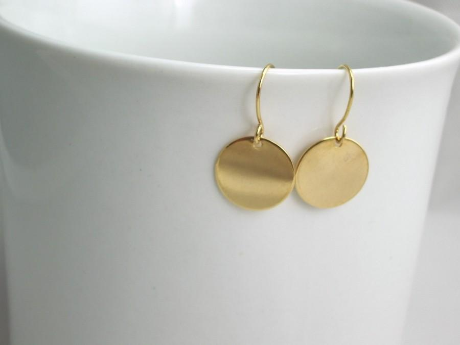 7886f568f0b77 Schmuck - Gold Disc Earrings #2405176 - Weddbook