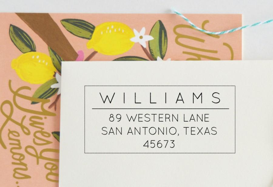 Wedding - Classic Return Address Stamp - Personalized Address Stamp - Custom address stamp - No. 61