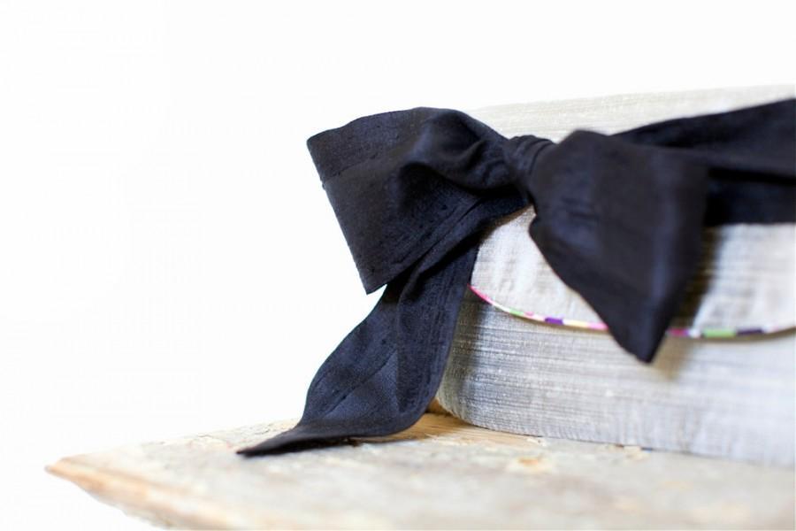 Mariage - Black wedding clutch, Vintage wedding, bridesmaids gifts, silk purse