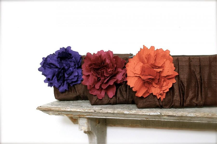 Mariage - Purple and burgundy wedding clutches, bridesmaids clutches, match your wedding colors