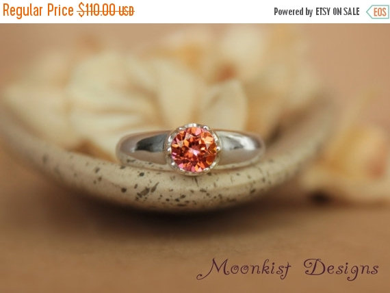 Mariage - ON SALE Anastasia Topaz Dramatic Engagement Ring in Sterling - Silver Artisan Wedding Ring, Commitment Ring or Promise Ring - Diamond Altern