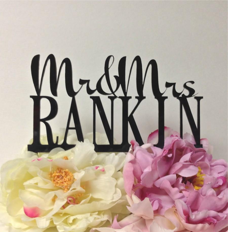 زفاف - Wedding Cake Topper Personalized Mr and Mrs Topper Design With YOUR Last Name Custom Monogram Family Name Wedding Topper