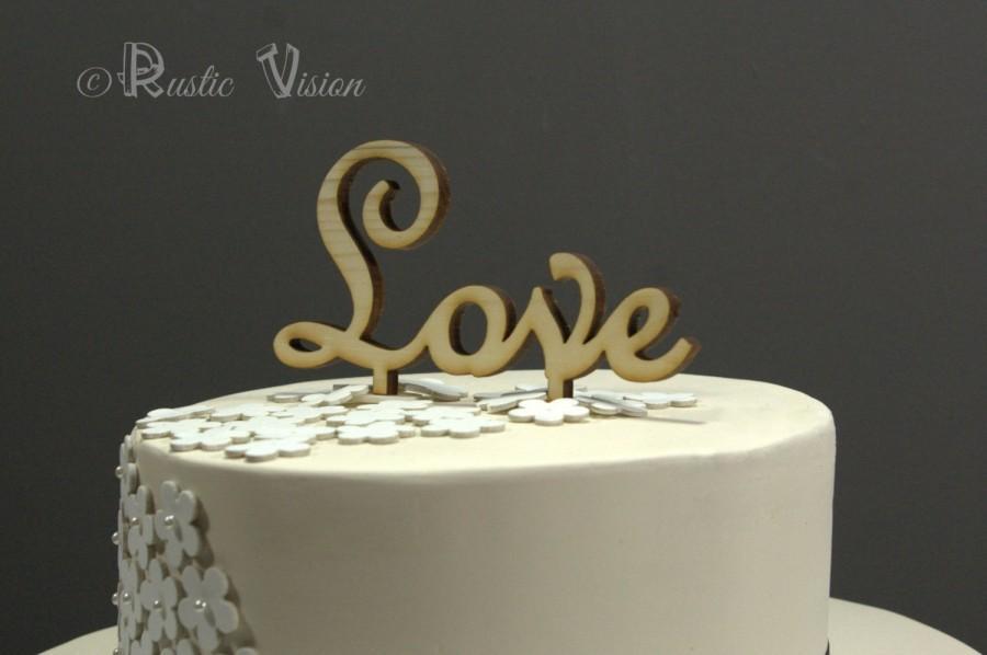 زفاف - Wooden Wedding Cake Topper Rustic - Love Birds Cake Topper