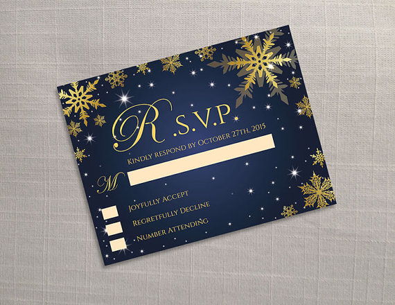 Свадьба - DIY Printable Wedding RSVP Template