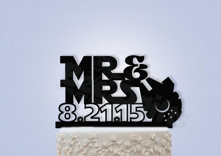 زفاف - Star Wars Inspired Mr and Mrs Wedding Cake Topper