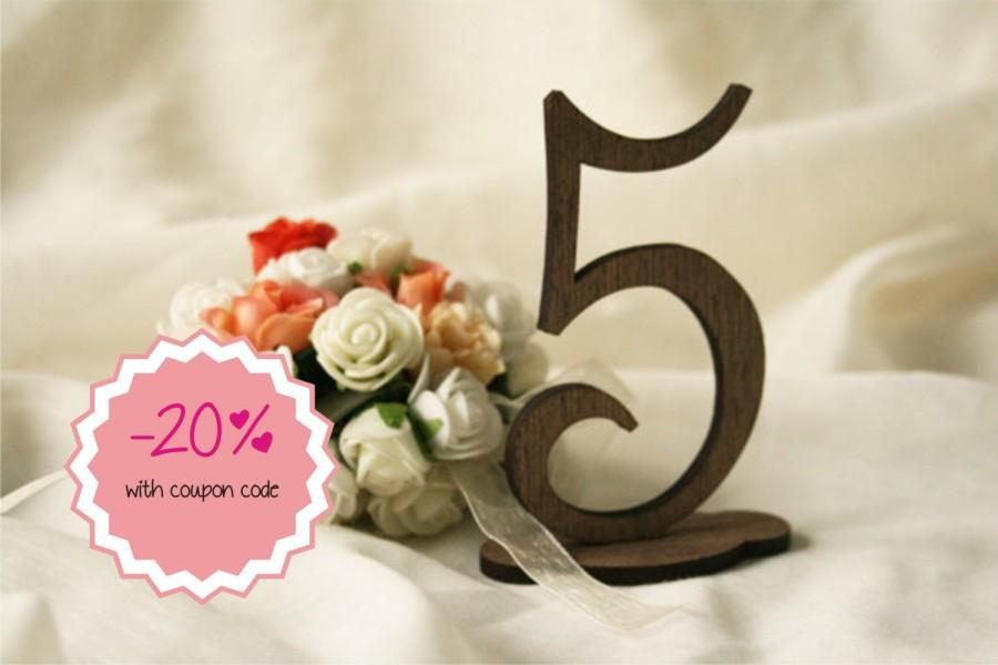 Mariage - wedding table numbers ( set of 10 ) wooden table numbers - rustic wedding - table numbers wedding - rustic table numbers
