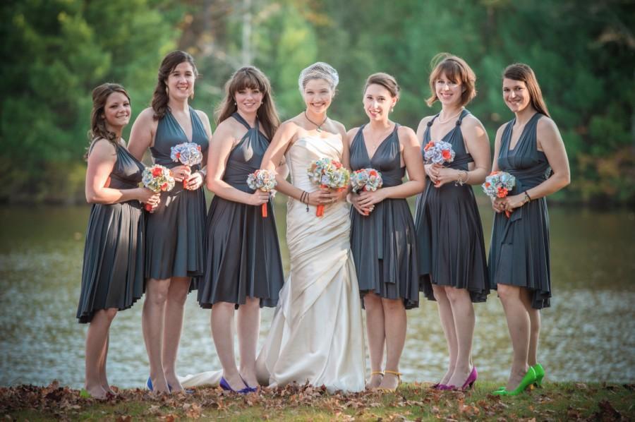 Boda - Gray Bridesmaid Dresses