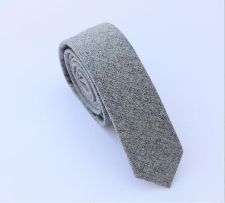 زفاف - Wool Ties.Wedding necktie.Light Grey Wool Neckties.Mens Ties,Business Ties.Slim Ties