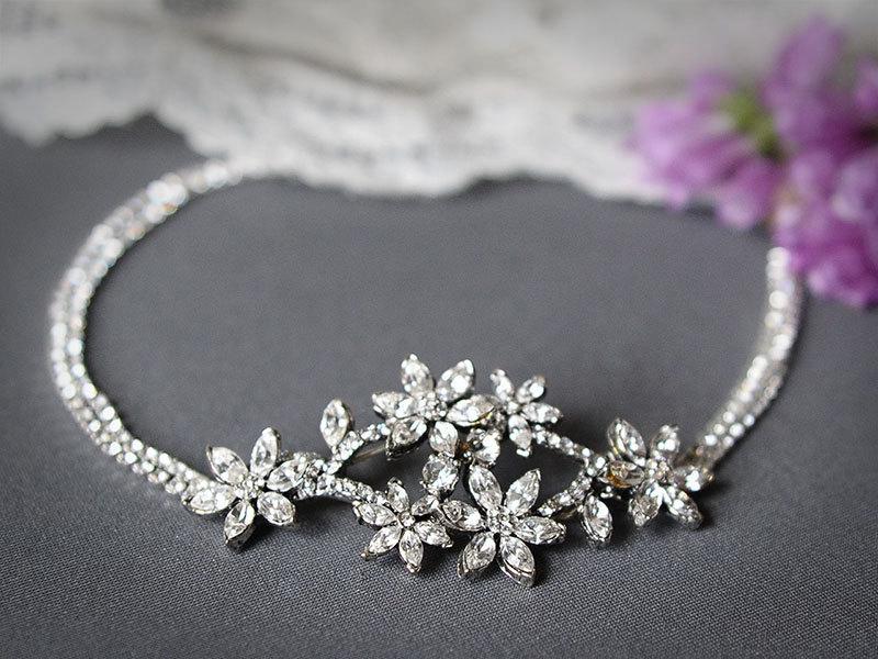 Mariage - Bridal Crystal Headband, Vintage Style Wedding Swarovski Headband, Flower Headband, Bridal Hair Accessories (Signature Collection), JANESE