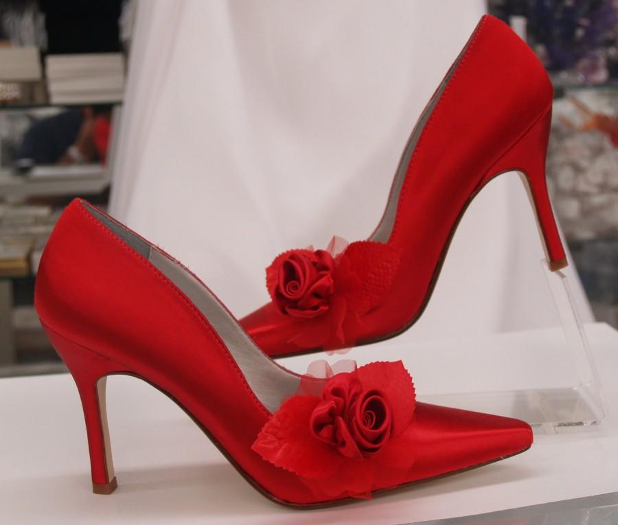 Red Rose Wedding Shoes Sexy Heels - More Colors Sexy Heel Shoes ...