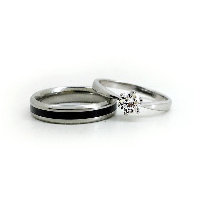 Personalized Unique Couples Wedding Bands Anniversary Rings Set For 2 2405969