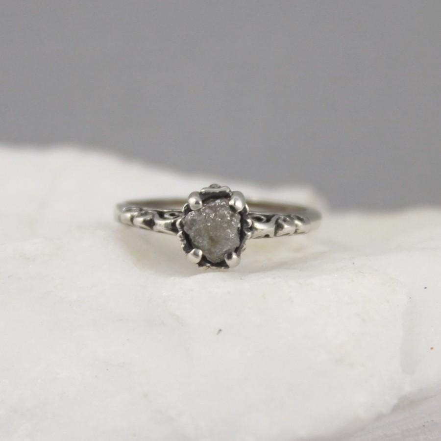 herkimer oxidized of diamond lovely size engagement ring silver rings