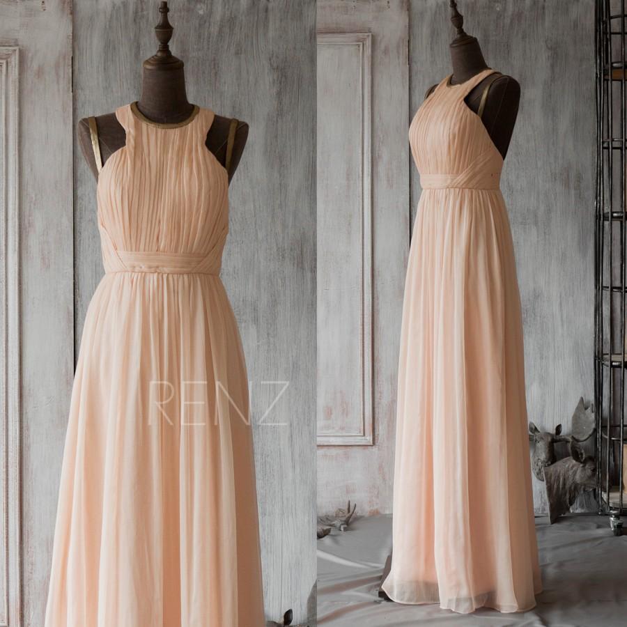 028775856f4 2015 Peach Bridesmaid Dress