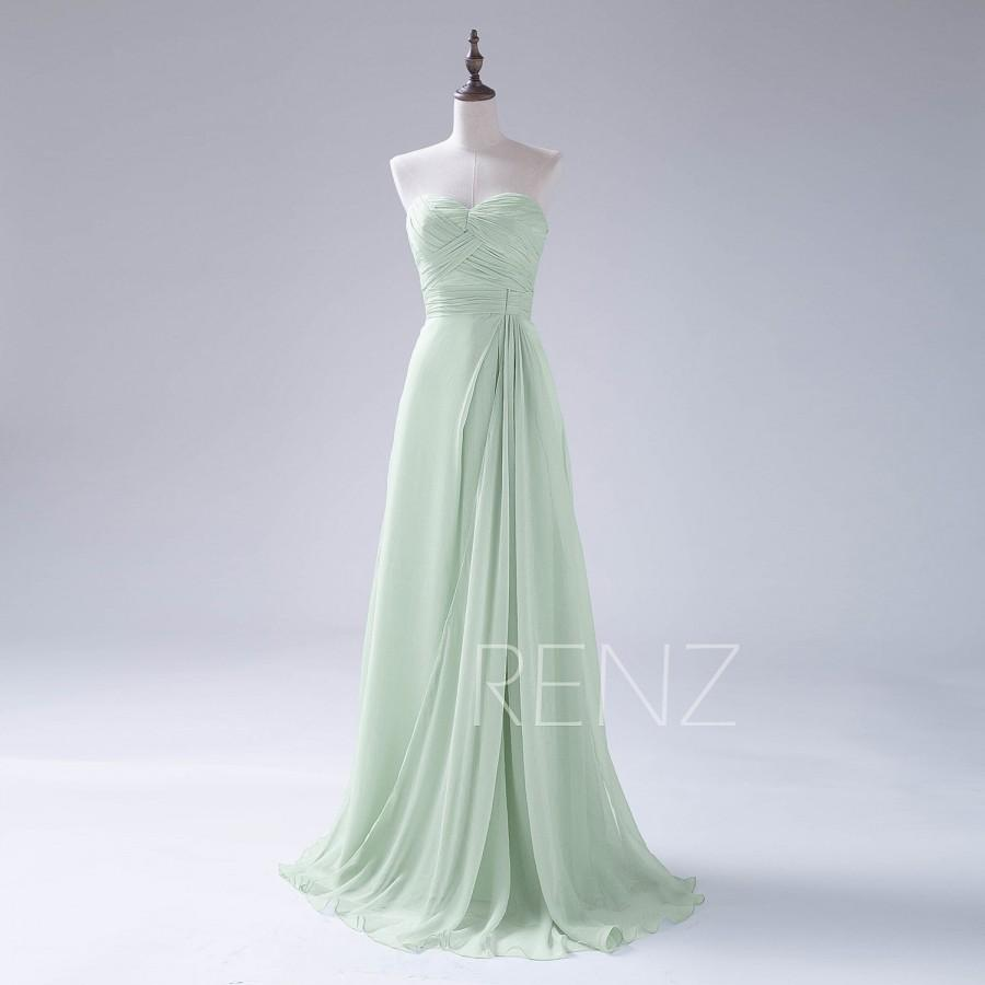 Hochzeit - 2015 Long Dusty Shale Bridesmaid Dress, Chiffon Prom Dress, Sweetheart Strapless Wedding Dress, Backless Womens Formal Evening dress (F198)