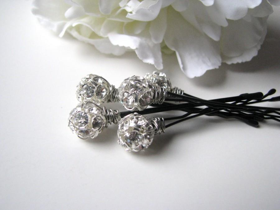 زفاف - Crystal Rhinestone Hair Pin Set, Wedding