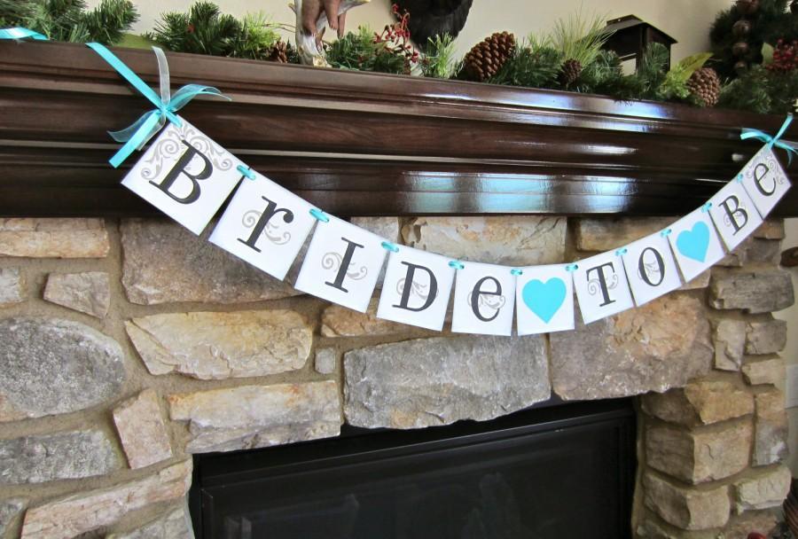 زفاف - BRIDE to BE banner, bachelorette party sign, bridal shower CUSTOM colors available