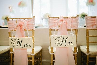 زفاف - Wedding Signs, MR. AND MRS. Chair Signs, Wedding Photo Props, Double sided, Bride and Groom