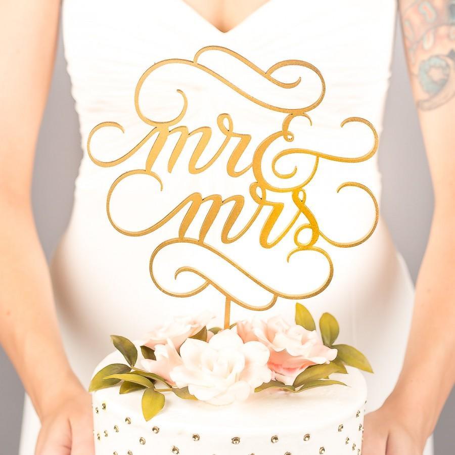 زفاف - Mr and Mrs Cake Topper - Wedding Cake Topper - Classic Collection