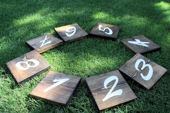 زفاف - Rustic Wooden Wedding Table Numbers, Table Number Wedding, Rustic Table Number - Single Wedding Table Number