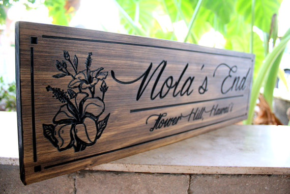 Hochzeit - Flower Sign-Family Sign-Wedding Sign-Marriage Sign-Custom sign-Personalized Wood Sign-Anniverary Gift (SW-20)