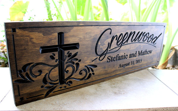Wedding - Family Sign...Wedding Sign-Marriage Sign-Custom sign-Personalized Wood Sign-Anniverary Gift-(SW-13)