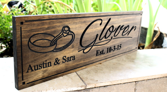 Hochzeit - Family Sign...Wedding Sign-Marriage Sign-Custom sign-Personalized Wood Sign-Anniverary Gift-SW-12