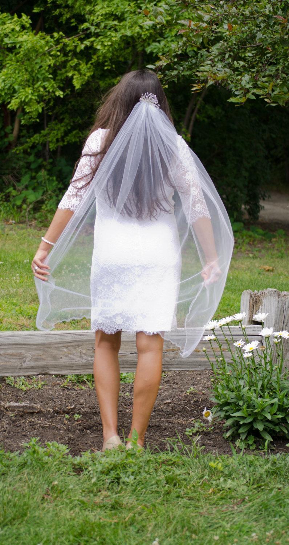 Hochzeit - Sun Burst Ballet Veil with Rhinestone Headpiece