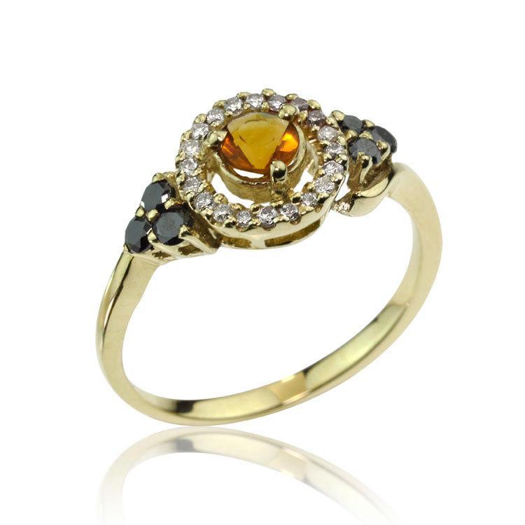 Mariage - Raw Stone Engagement Ring, Vintage Inspired Sapphire Diamond Engagement Ring, Raw Stone Ring, Raw Diamond Ring, Raw Stone, Statement Ring