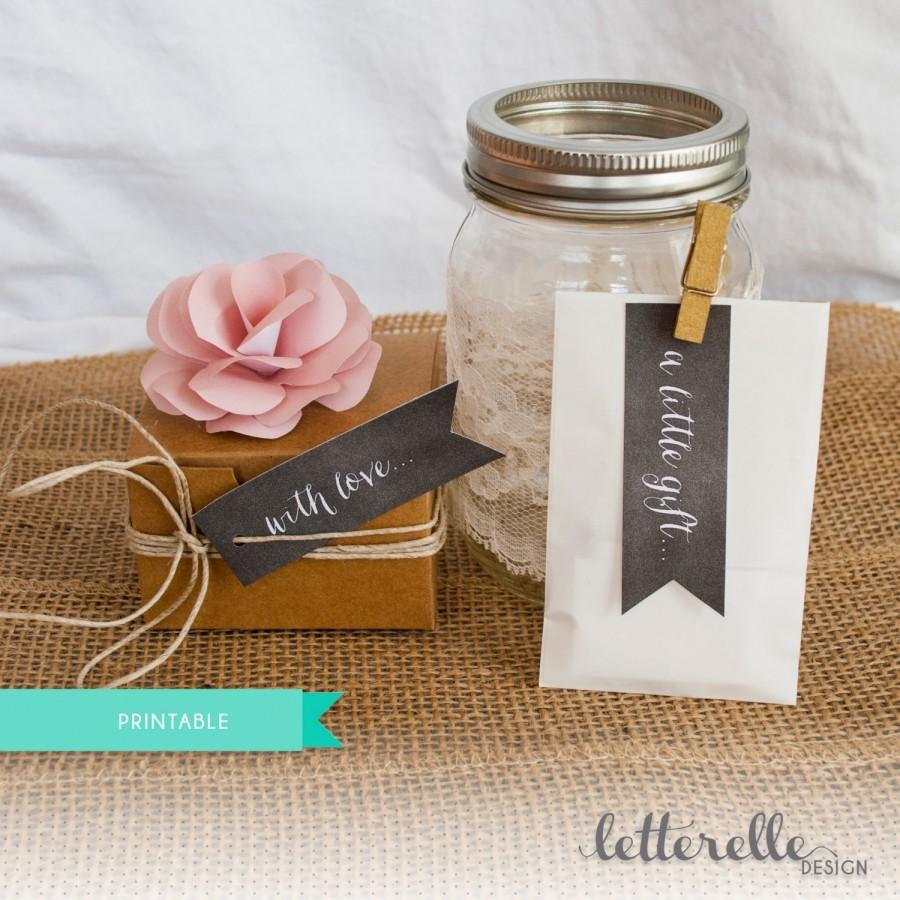 Mariage - Printable Chalkboard Favor Tags - Multiple sayings